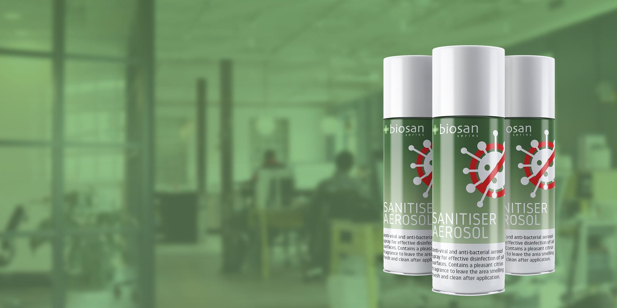 New product launched – introducing the Biosan Total-Release Sanitiser Aerosol
