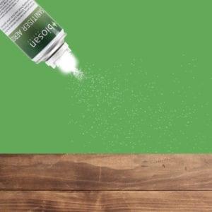 Biosan Multi-use Sanitiser Aerosol - point and spray